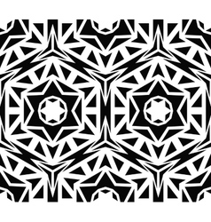 Solid Geometric Black Rose Pattern vector image