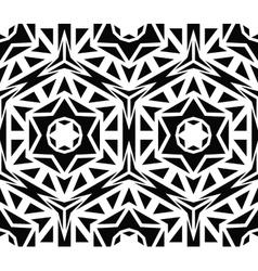 Solid geometric black rose pattern vector