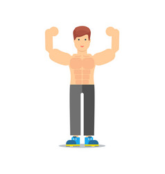 sporty and strong man icon vector image