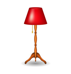 stand lamp in retro design with shadow vector image