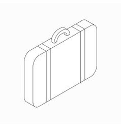 Suitcase icon isometric 3d style vector image