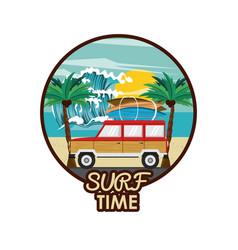 Surf time cartoon vector