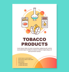 Tobacco industry poster template layout smoking vector