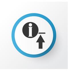 Upload information icon symbol premium quality vector