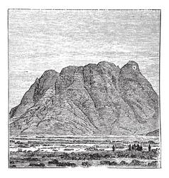 Vintage Mount Sinai vector