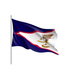 Waving flag of american samoa vector