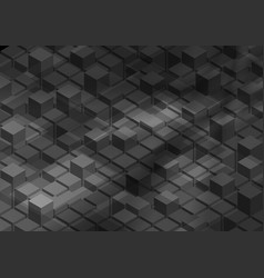 3d abstract tech geometric shapes background vector image
