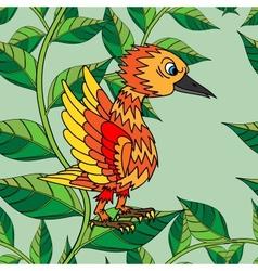 Little birds sing songs Seamless texture vector image vector image