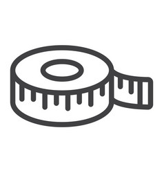 measure tape line icon centimeter and size vector image vector image