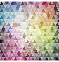 multicolored background with grunge mosaic texture vector image