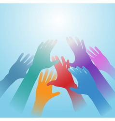 people hands vector image