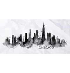 Silhouette ink Chicago vector image
