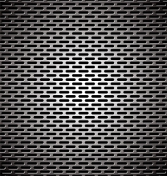 slot grill metal background vector image