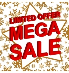 Winter sale poster with limited offer mega sale vector