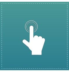 click hand icon pointer vector image