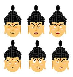 Emotions buddha Set expressions avatar Indian god vector image vector image