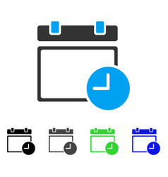 calendar page and time flat icon vector image