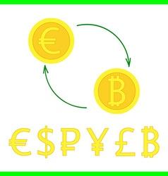 currency excange vector image