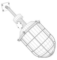 Heat exchanger on white vector
