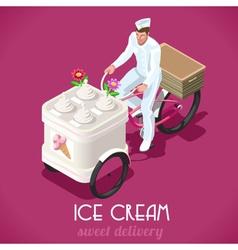 Icecream Man People Isometric vector image vector image