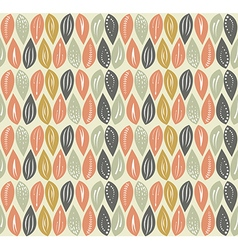 Leaf seamless pattern background vector image