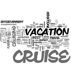 Why a cruise is such a great value what s vector