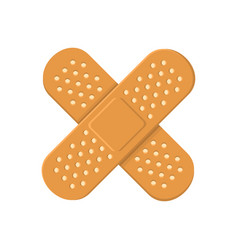 adhesive medical plasters bandage cross icon vector image