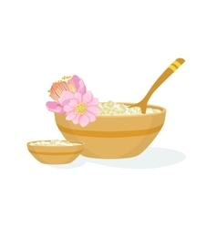 Bowl With Handmade Natural Cosmetic Product For vector image vector image
