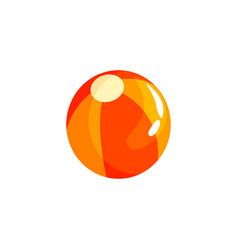 colorful beach ball in flat style vector image
