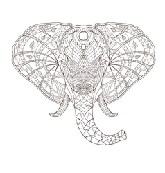 Elephant Ethnic patterned vector image