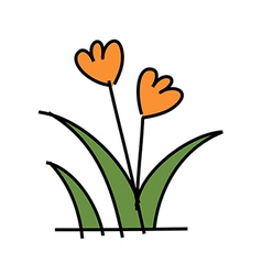 icon plant vector image