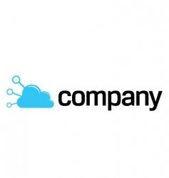 internet connection cloud logo vector image