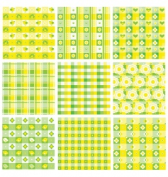 patchwork patterns vector image vector image