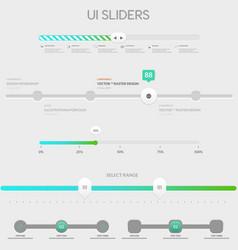 UI sliders vector image vector image