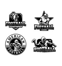 American football badge collection logo in black vector