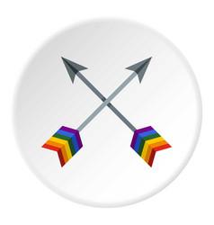 Arrows lgbt icon circle vector