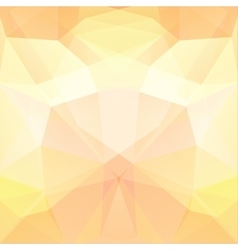 Background made of pastel yellow triangles Square vector
