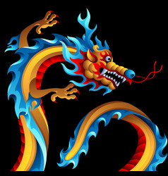 Background with chinese dragon vector