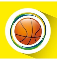 ball basketball olympic games brazilian flag vector image