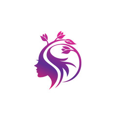 Beauty logo template vector