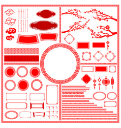 Big set collection of chinese style traditional vector