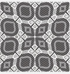 Black and white greek seamless pattern polka vector