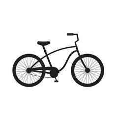 black flat cruiser bicycle icon logo vector image