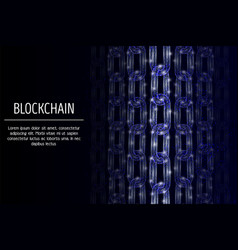 blockchain technology geometric polygonal vector image