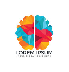 brain logo design vector image