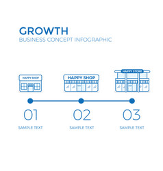 business growth business infographics elements vector image