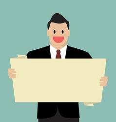 Businessman reading blank board vector