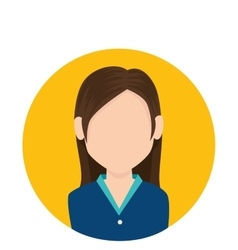 businesswoman character avatar icon vector image