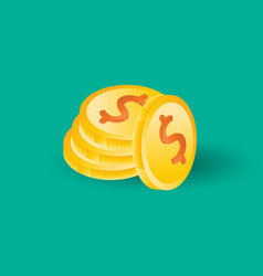 coin icon background vector image