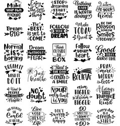 collection inspiration phrases slogans or vector image